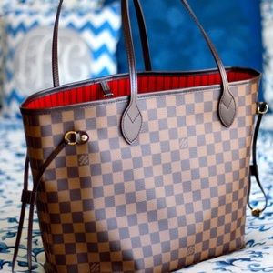 Neww Louis Vuitton Neverfull Handbag Purse MM
